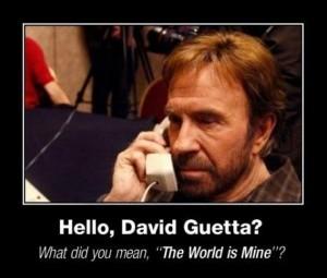 Chuck Norris calls David Guetta