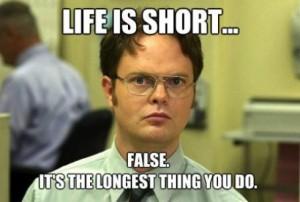 Life is short meme